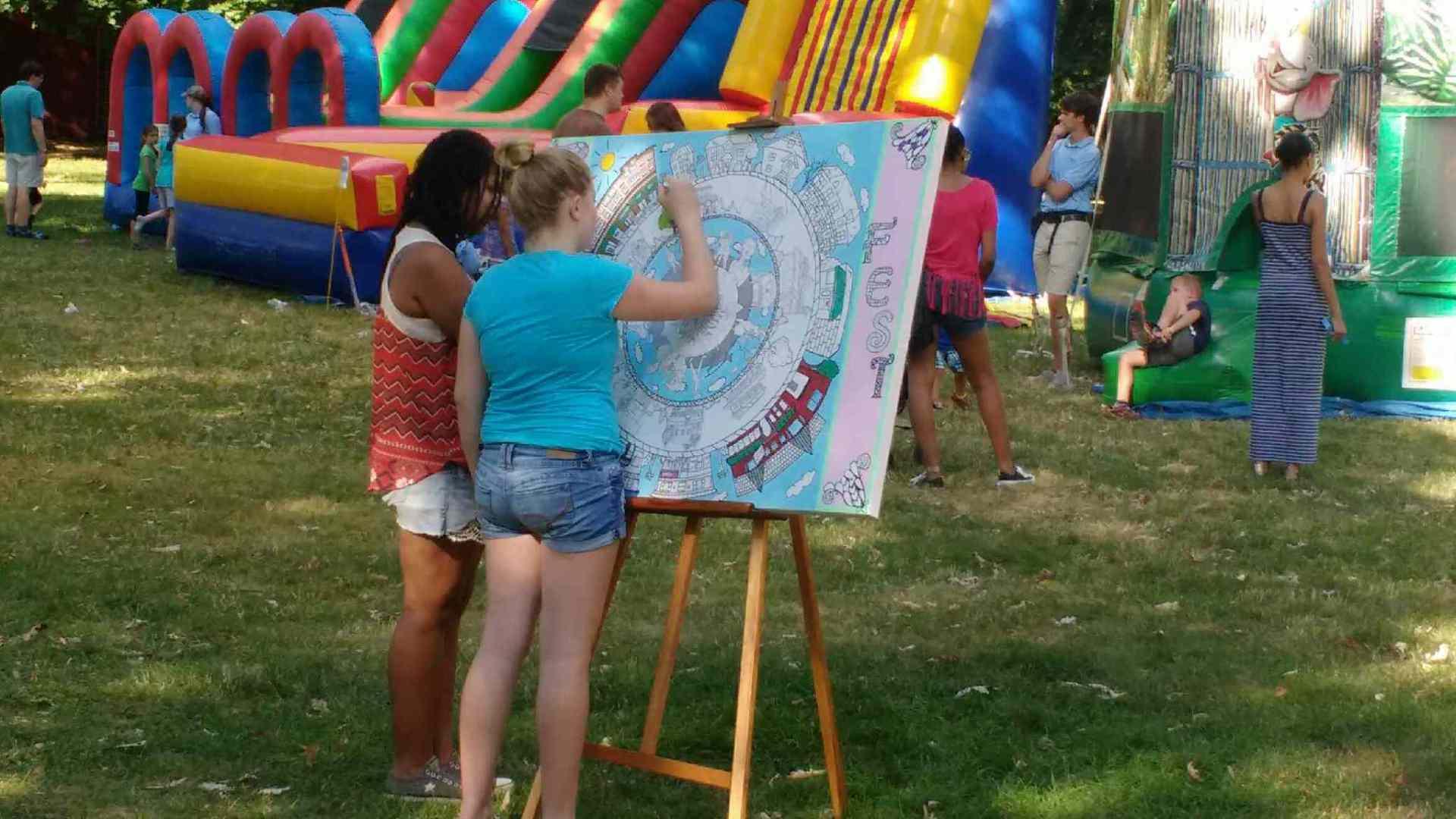 Our 3 feet by 4 feet Park Ave Fest Canvas