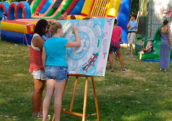 Park Ave Fest Rochester NY.  C.O.C. donated this Canvas for all to enjoy.