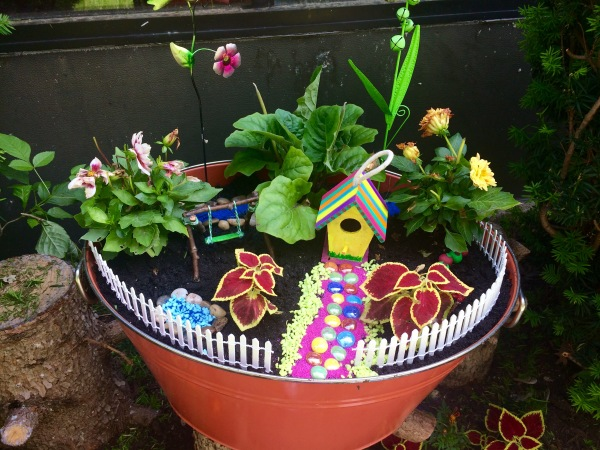 Our Outdoor Fairy Gardens