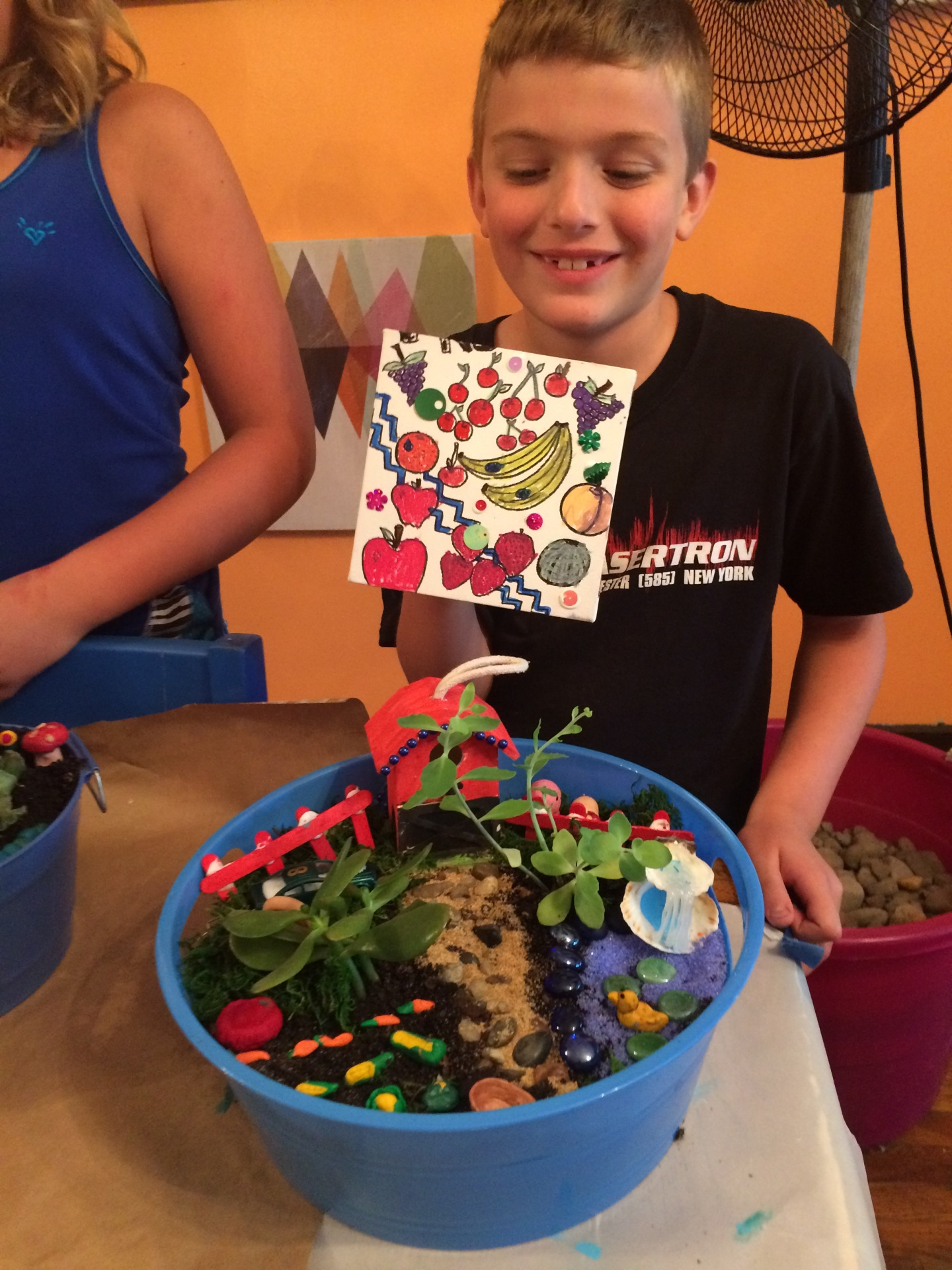 Artistic Imagination Gardens-Check out the clay miniatures we made!