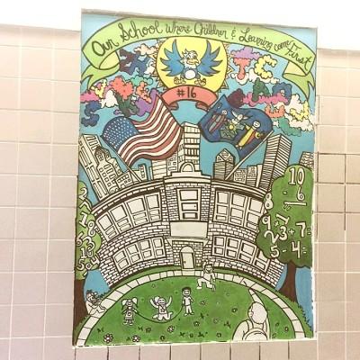 School #16 Interactive Wall Mural