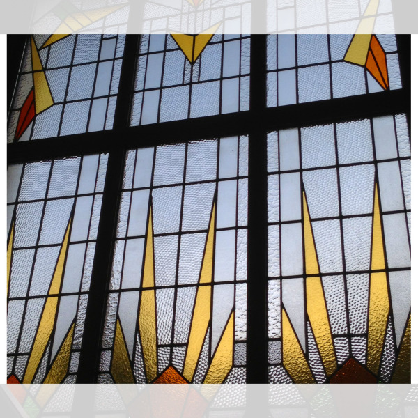 Art deco stained glass and lead light