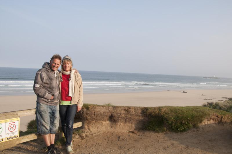 family buisness godrevy beach sun shine