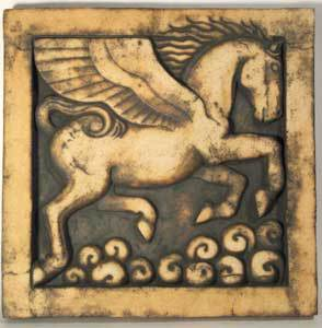 pegasus sculpture, classical art, greek sculpture, bas relief sculpture, crank clay, classical greece
