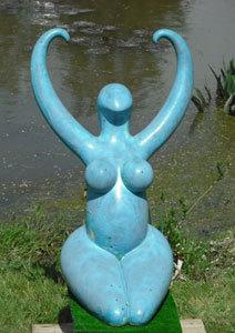Nile goddess, large Nile Goddess, neolithic Egyptian sculpture, Badarian sculpture, Ama Menec sculpture, Henley on Thames