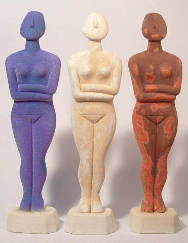 Cycladic Goddess, cycladic idol, cycladic art, greek sculpture, greek art, Ama Menec sculpture, classical art.