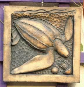 Leatherback turtle, turtle art, turtle sculpture, leatherback turtle sculpture, copper wash turtle, Ama Menec sculpture.