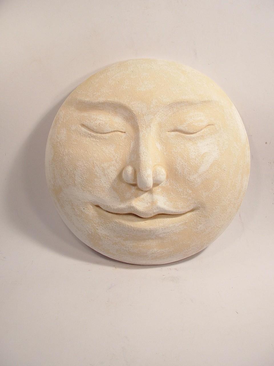 full moon sculpture, full moon wall hanging, moon sculpture, moon art, moon bas relief, full moon art, Ama Menec sculpture.