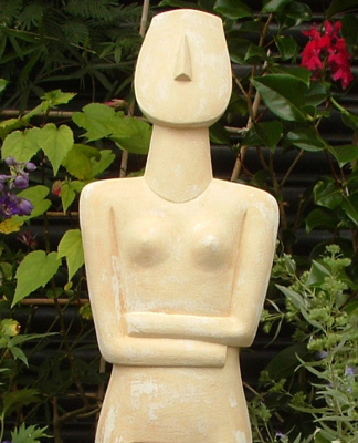 Cycladic Goddess, large cycladic goddess, Greek art, classical sculpture, Ama Menec sculpture