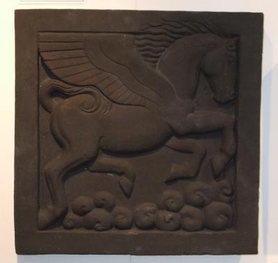 Pegasus, pegasus bas relief, pegasus wall art, black pegasus, pegasus art, Ama Menec sculpture.