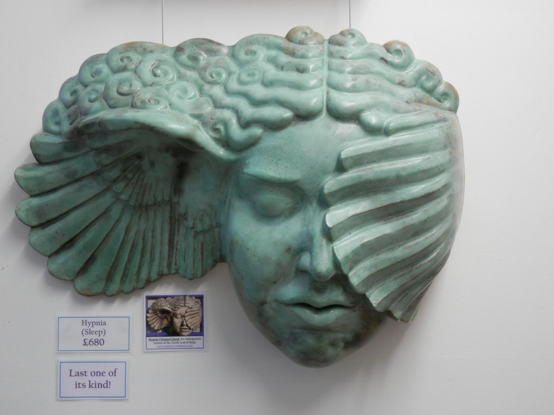 Hypnia, ceramic head, hypnos