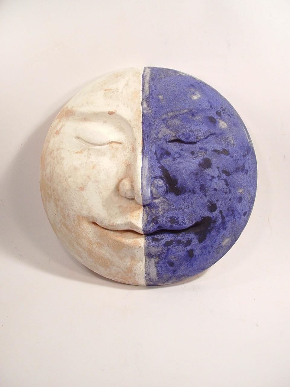 half moon, wall hanging sculpture, Ama Menec.