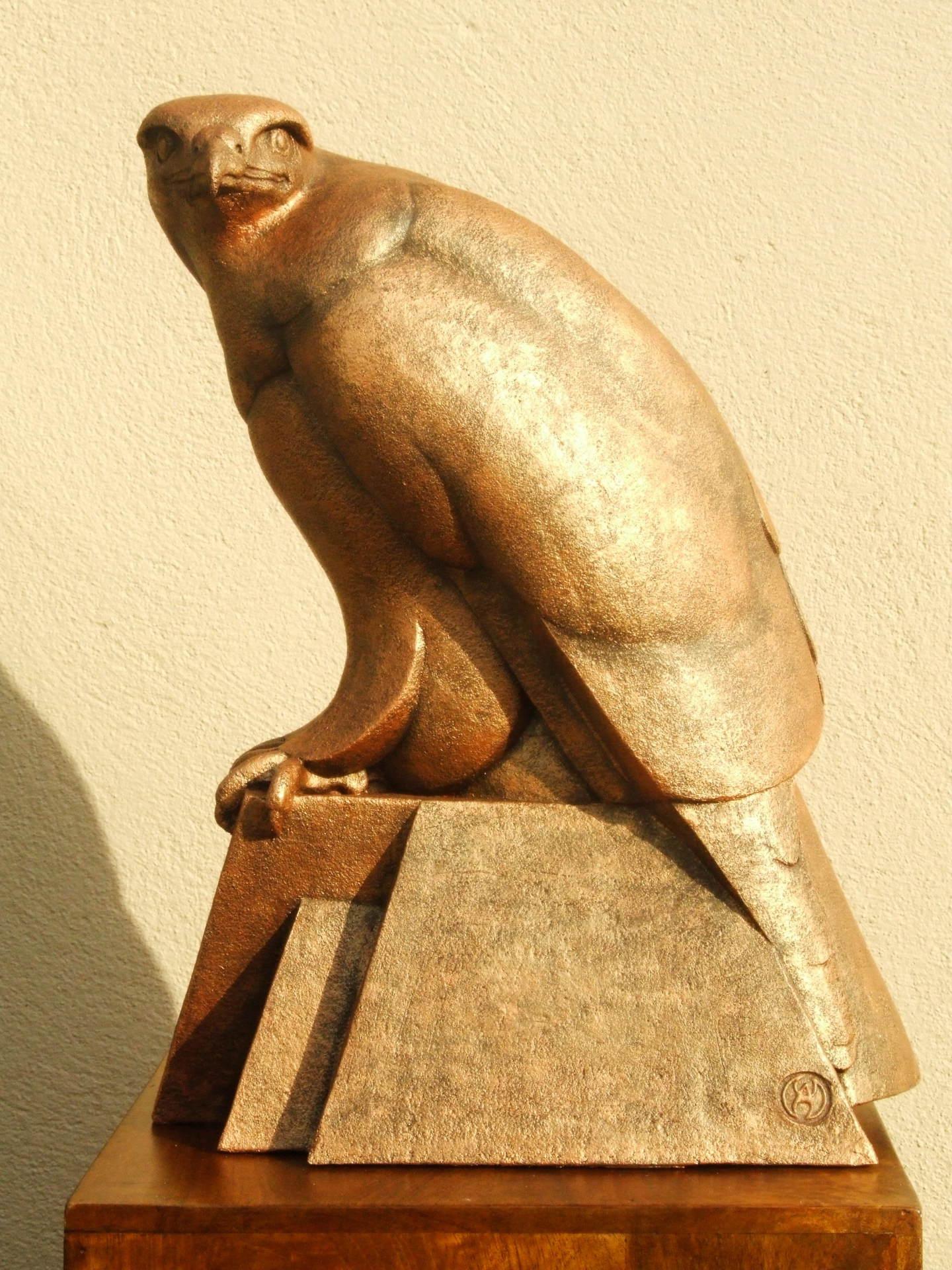 buzzard, ceramic, sculpture