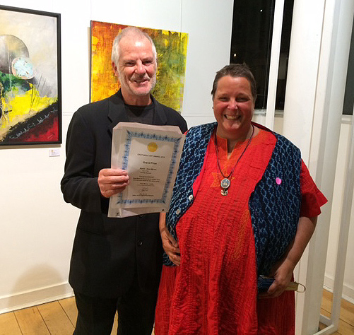 Ama Menec winning the  Grand Prize for the East West Art Award 2016
