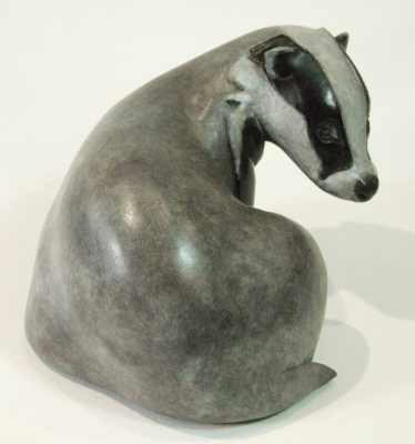 badger bronze, brock bronze, badger sculpture, brock sculpture, British bronze sculpture,