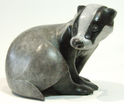 Badger, brock, badger sculpture, badger bronze, British bronze, contemporary bronze.