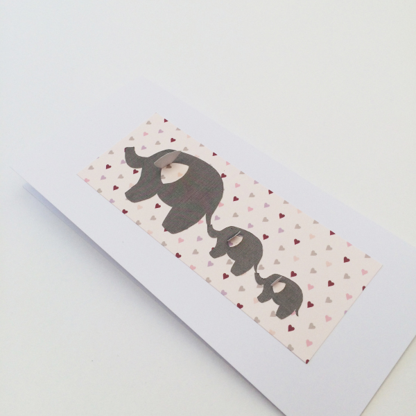 Heart Elephant Card - £3