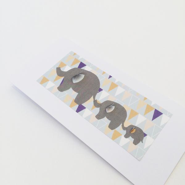 Bunting Elephant Card - £3