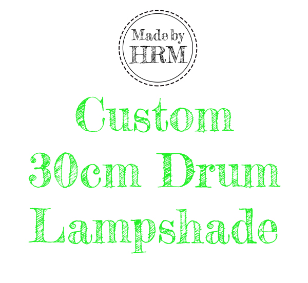 Custom 30cm Lampshade - £30