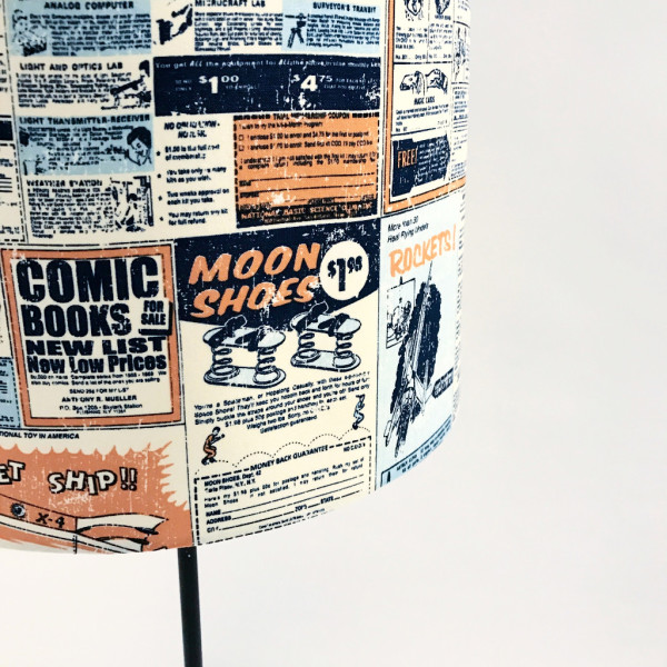 Newsprint Lampshade