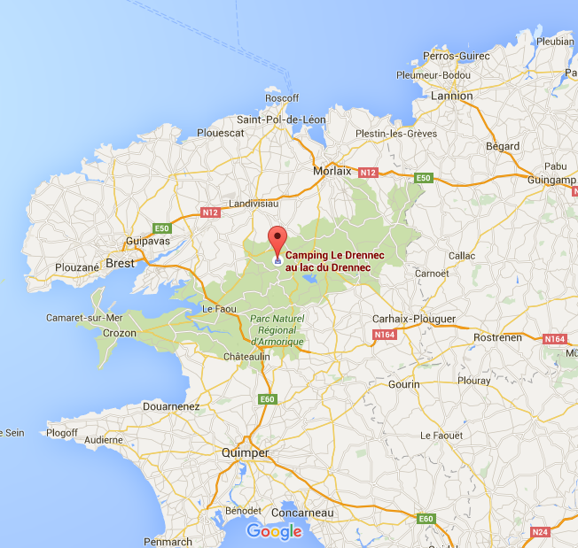 Where we are in Brittany.