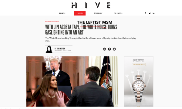 With The Acosta Tapes The HIVE MIND MEDIA Has Turned Gaslighting Into An Art