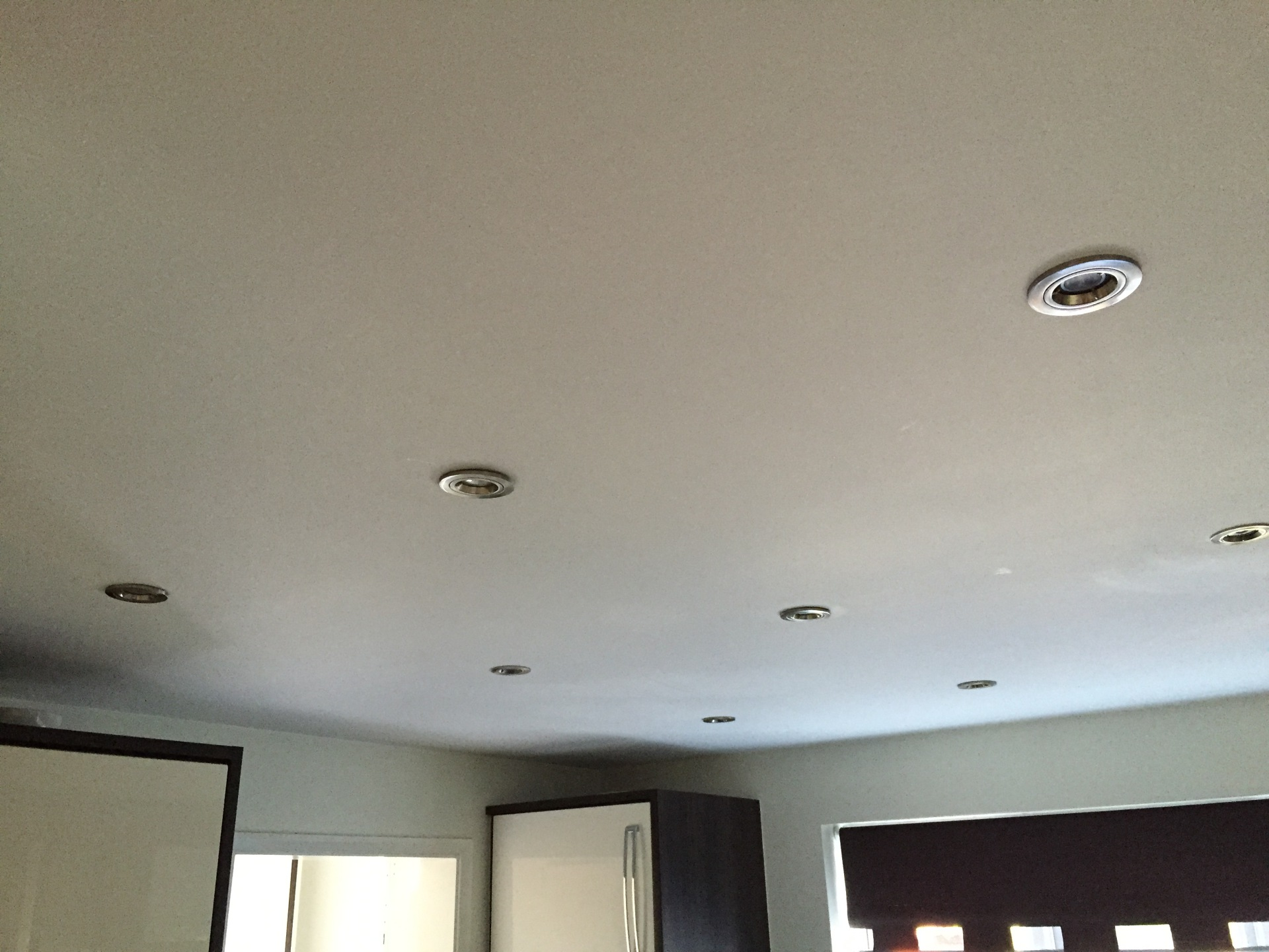 Brushed Chrome Fire Rated Down-Lighters - Warm White LED Lamps