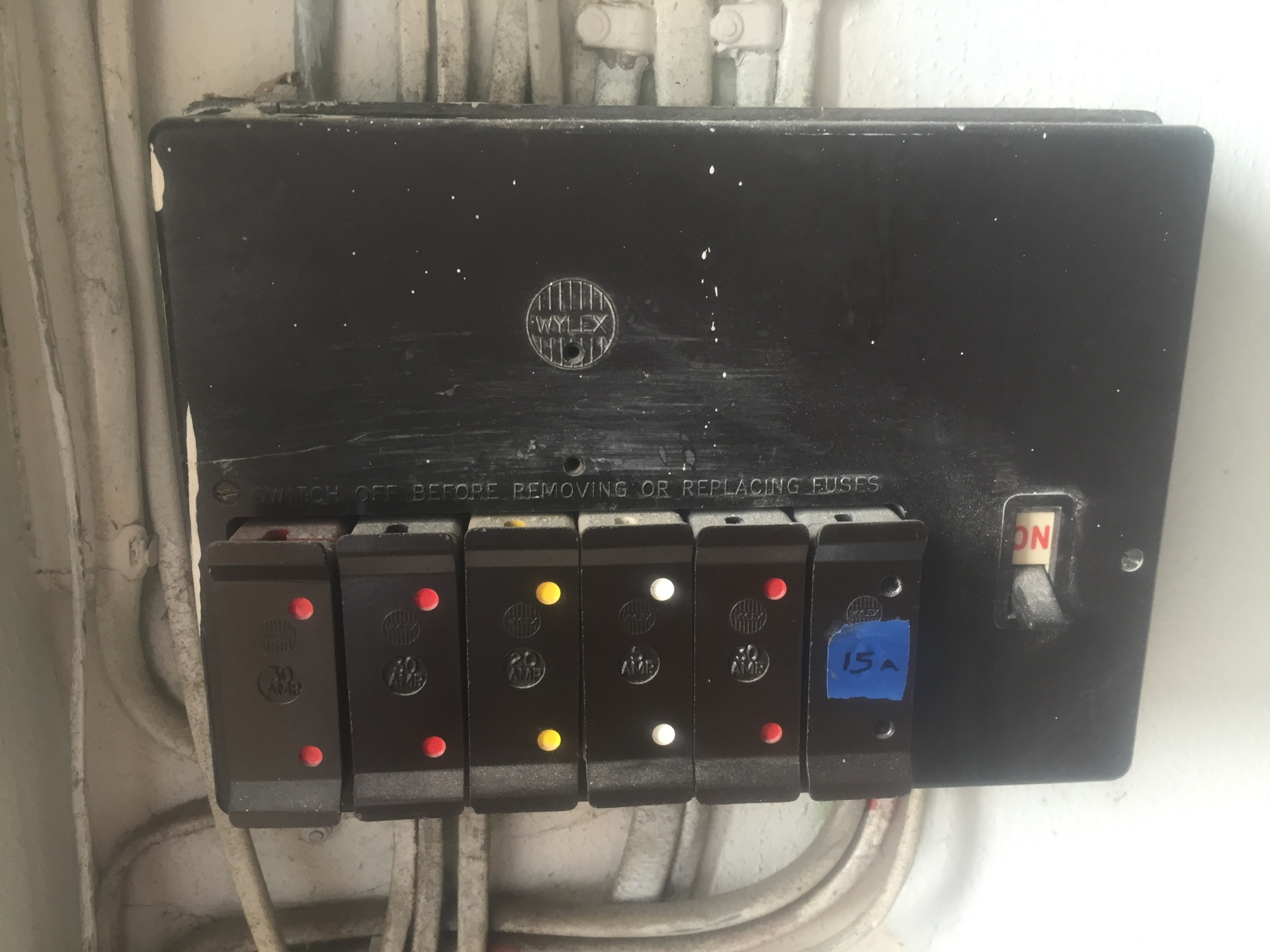 BEFORE - Old Unsafe consumer unit
