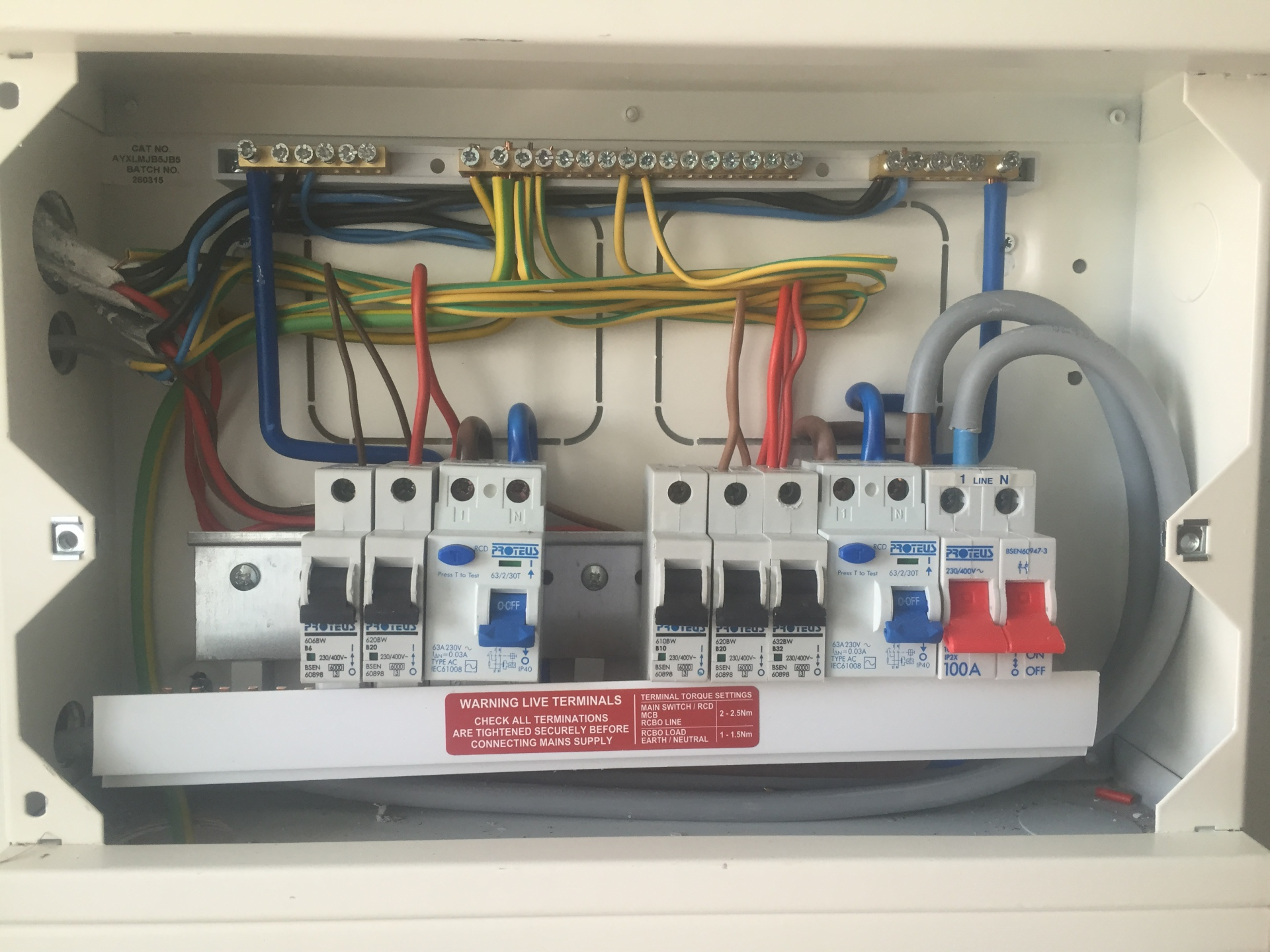 AFTER - Domestic Consumer Unit (Fuse board)