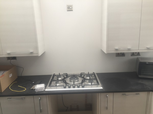 Gas Hob Fitted (Electric Ignitor)