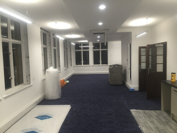 Finished - complete re-wire of 3 floors of office in central London, Bury Street.