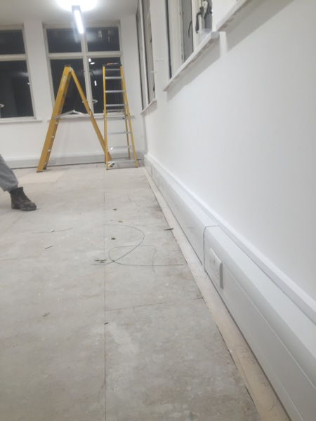 Title 14aNearly finished - complete re-wire of 3 floors of office in central London, Bury Street.