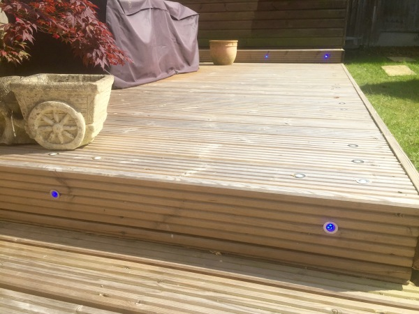 Blue & White LED Decking Lights