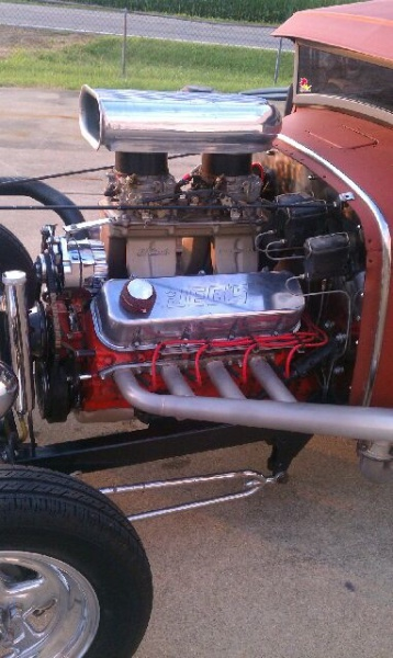 468 BB engine 1931 Ford owned by Paul Bazler of Pike County Ohio