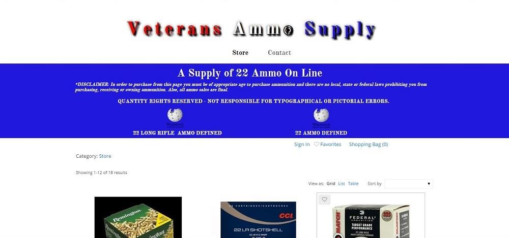 Veterans Ammo Supply, pamelajjames, webdesigner, pamelajjames.com,