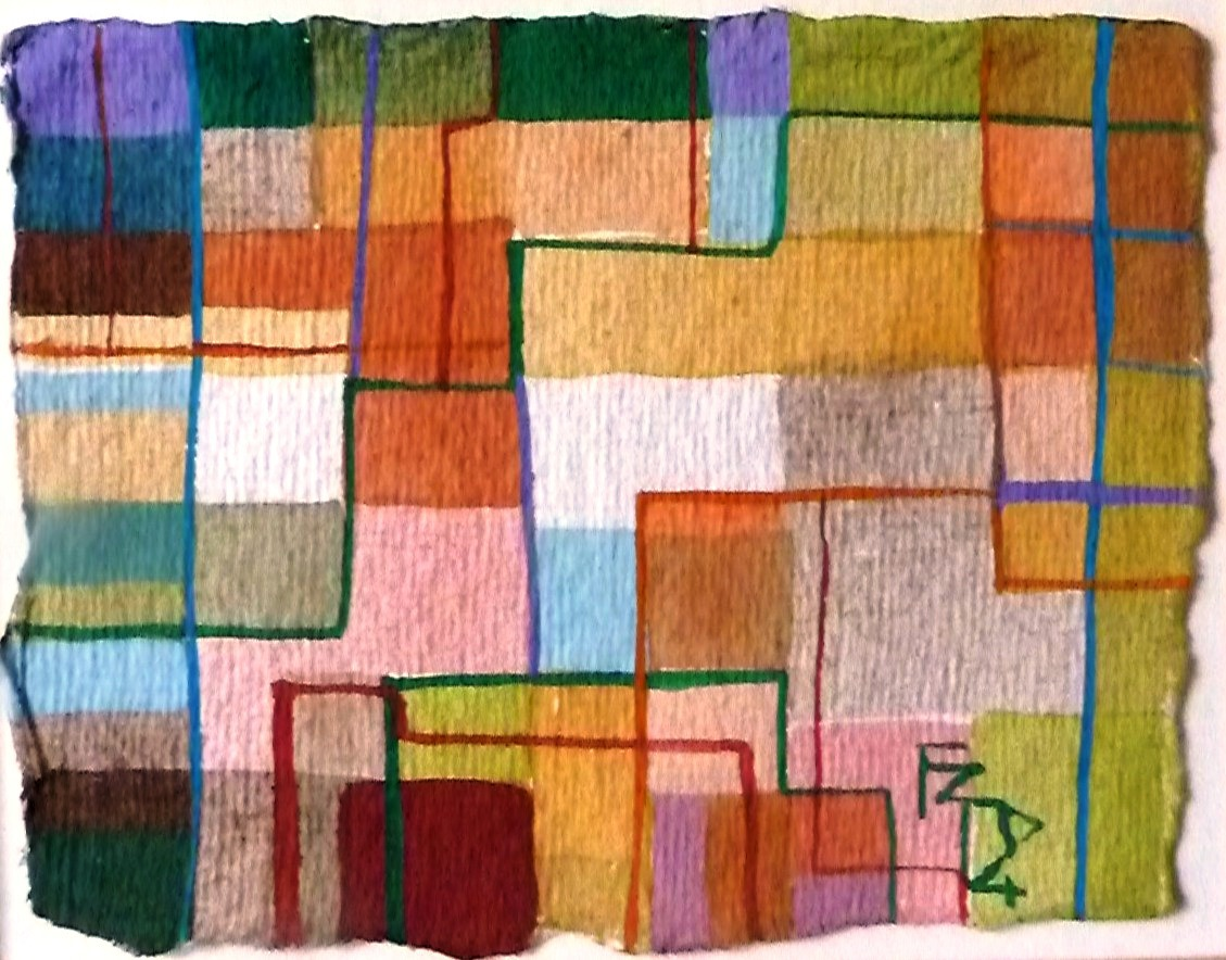 BUILDING BLOCKS. Watercolour on Handmade paper.
