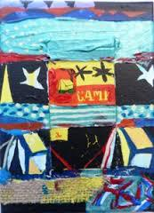 Matchbox Series 12. Camp matchbox and Acrylic on Canvas. 17.7x12.7x1.7 cm. 2013