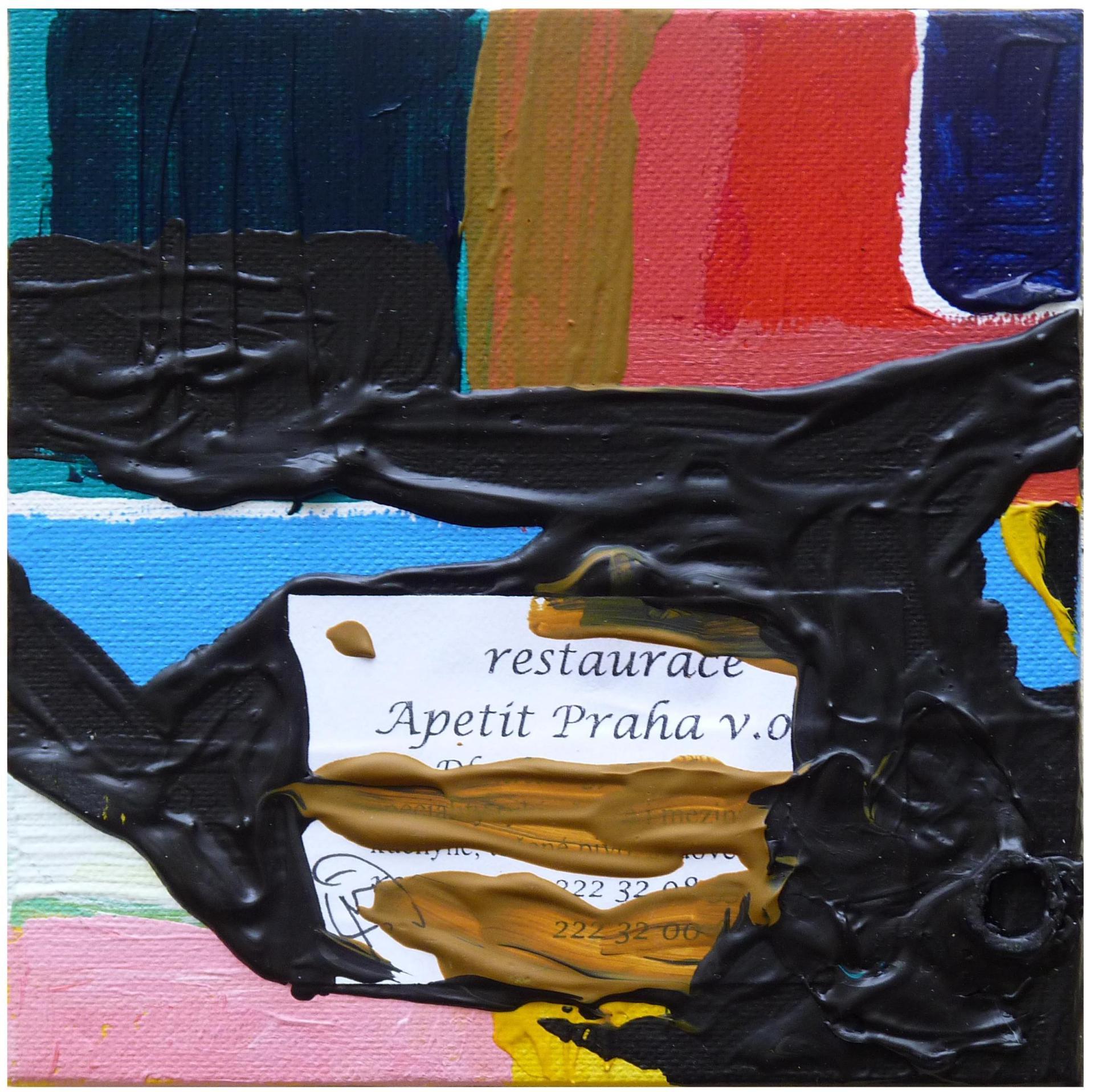 APETITE PRAHA Mixed Media on Canvas 2010 15x15cm LABELS 2