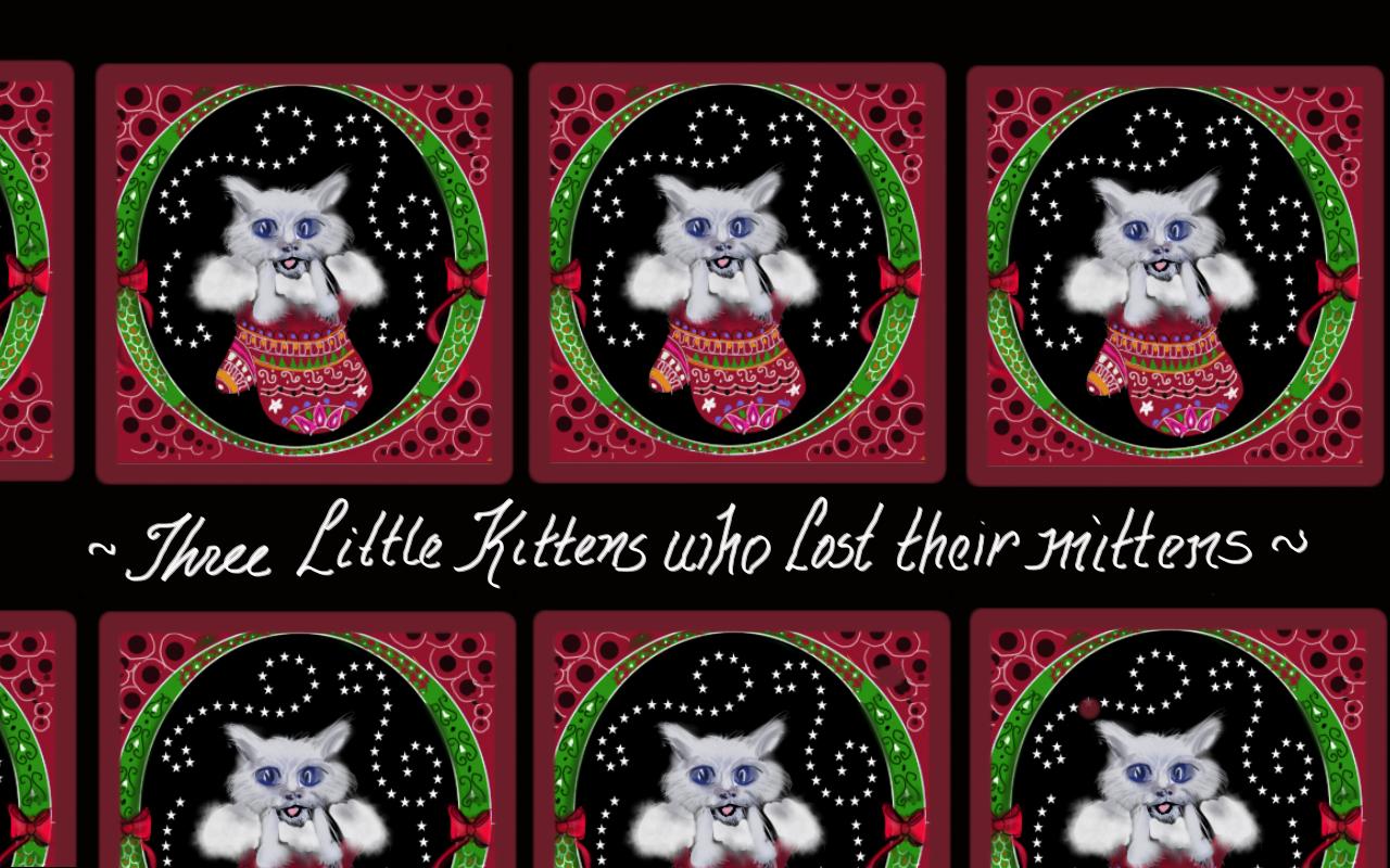 CHRISTMAS KITTY-FABRIC, WALLPAPER