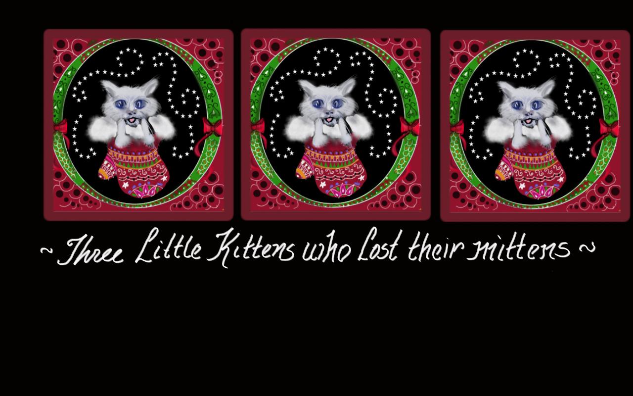kitten in mitten motif