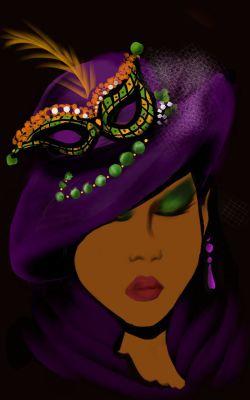 mardigras hat lady