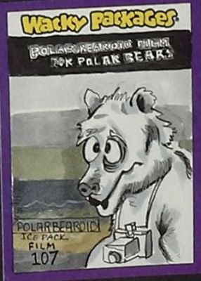 POLARBEAR WACKY PACKAGE ARTIST RETURN CARD BY LILY