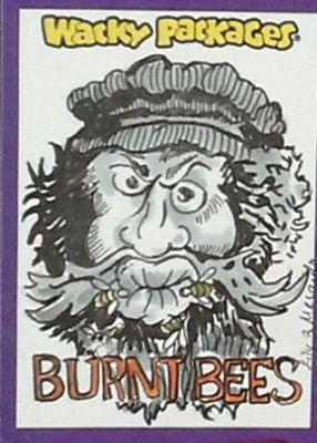 BURT BEES ROOKIE CARD WACKY PACKAGES