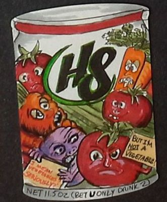 H8 VEGIES ROOKIE CARD WACKY PACKAGES
