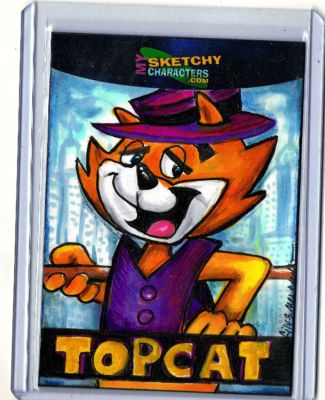Top Cat Pub. Sample card.