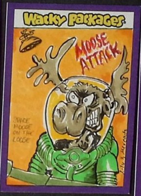 MOOSE ATTACKS ROOKIE CARD WACKY PACKAGES