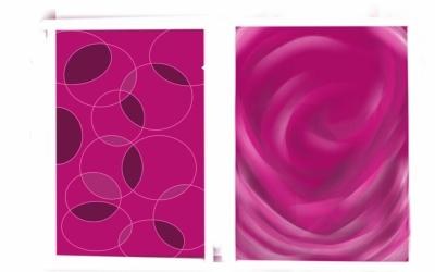 pink prints for nail art