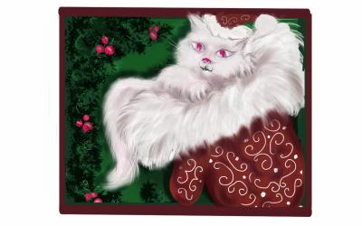 chrismas kitty