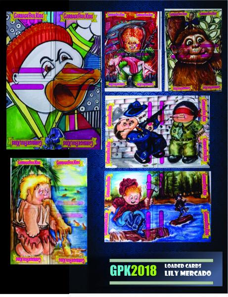 GARBAGE PAIL KIDS SKETCH CARDS MIXED