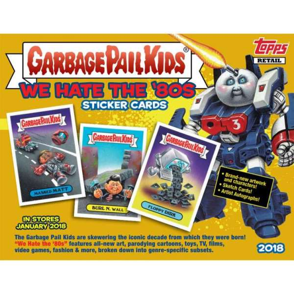 GARBAGE PAIL KIDS SKETCH CARDS TRADING CARD 80S